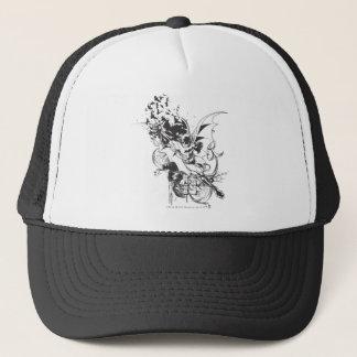 Battes et motif floral casquette