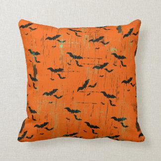 Battes noires des carreaux | de Halloween sur Oreiller