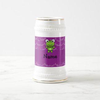 Battes nommées personnalisées de pourpre de chope à bière