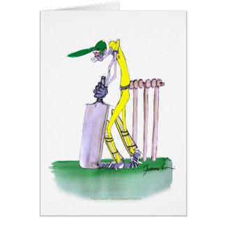 Batteur australien, fernandes élégants carte de vœux
