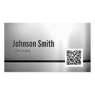Batteur - code de l'acier inoxydable QR Carte De Visite Standard