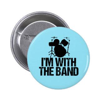 Batteur drôle je suis avec la bande badges