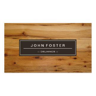 Batteur - grain en bois de frontière carte de visite standard