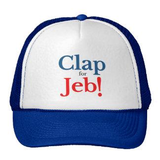 Battez svp pour le candidat présidentiel 2016 de casquettes