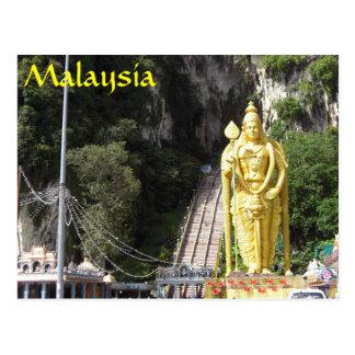 Batu foudroie la carte postale de la Malaisie de
