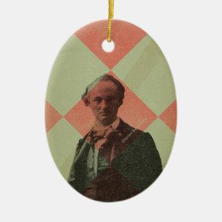 Baudelaire Ornement Ovale En Céramique