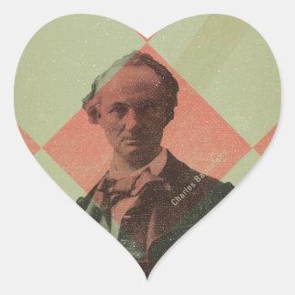 Baudelaire Sticker Cœur