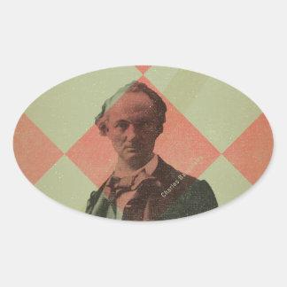 Baudelaire Sticker Ovale
