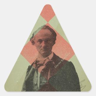 Baudelaire Sticker Triangulaire