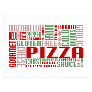 bavardage de pizza carte postale
