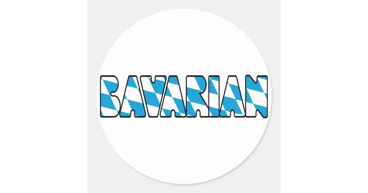 Bavarois sticker rond zazzle for Petit miroir rond a coller
