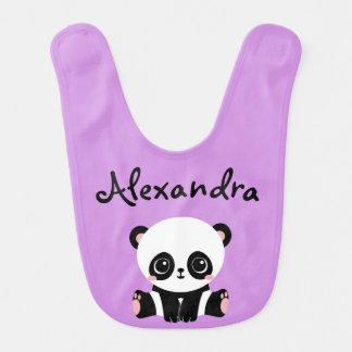 Bavoir adorable de bébé d'ours panda