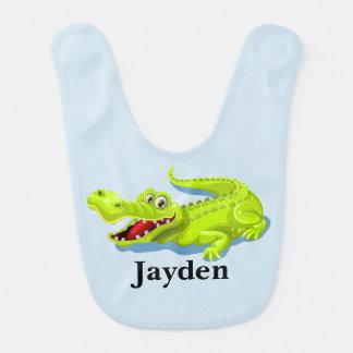 Bavoir Alligator mignon du bébé de l'enfant