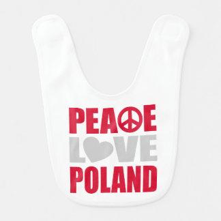 Bavoir Amour Pologne de paix
