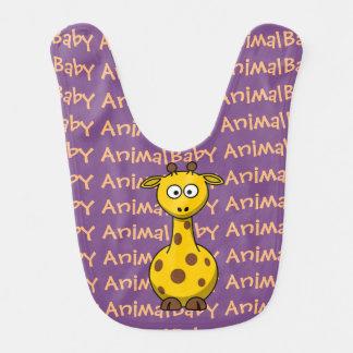 Bavoir Animal de bébé de girafe