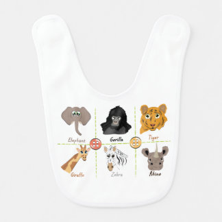 Bavoir Animaux sauvages