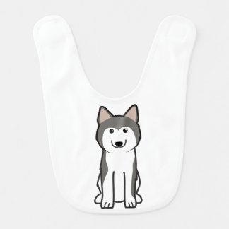 Bavoir Bande dessinée de chien de chien de traîneau