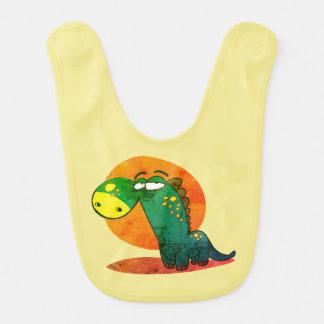 Bavoir bande dessinée drôle d'enfant mignon de dinosaure