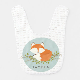 Bavoir Bébé doux de Fox de région boisée
