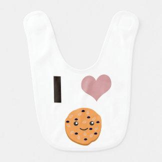Bavoir Biscuits de farine d'avoine du coeur I
