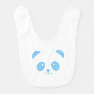 Bavoir bleu mignon et câlin de bébé de panda