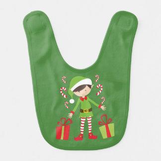 Bavoir Brune Elf avec des présents