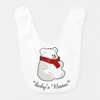 Bavoir câlin de bébé d'ours blanc