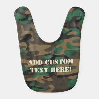 Bavoir Camouflage militaire vert de Brown Camo