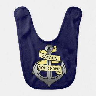 Bavoir Capitaine de bateau personnalisable votre ancre