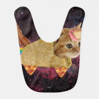 Bavoir Chat de licorne - chat de taco - chat de l'espace