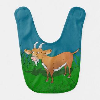 Bavoir Chèvre dans la longue herbe