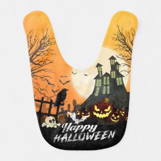 Bavoir Ciel nocturne hanté éffrayant Halloween de costume