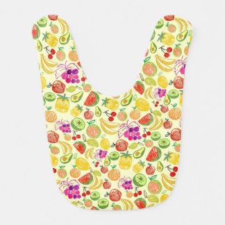 Bavoir coloré de bébé de nourritures