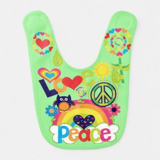 Bavoir d'amour et de paix