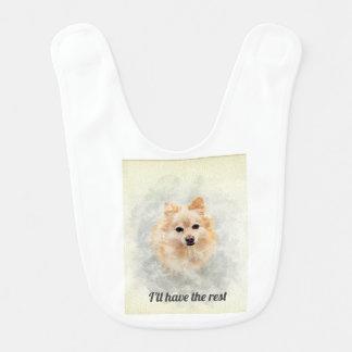 Bavoir de bébé d'amants de Pomeranian ! Chien de
