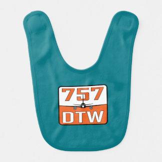 Bavoir de bébé de 757 DTW