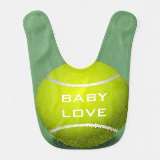 Bavoir de bébé de conception de tennis