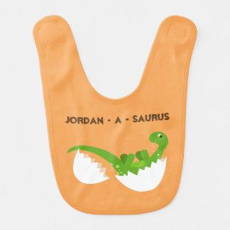 Bavoir de bébé de dinosaure