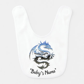 Bavoir de bébé de dragon de chrome