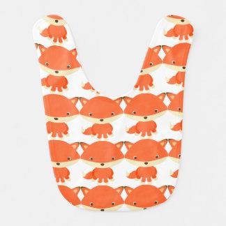 Bavoir de bébé de Fox rouge
