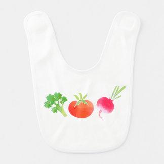 Bavoir de bébé de légume brocoli, de tomate et de