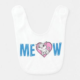Bavoir de bébé de Meow