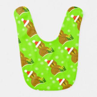 Bavoir de bébé de Noël d'ours