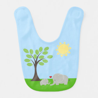 Bavoir de bébé d'éléphant