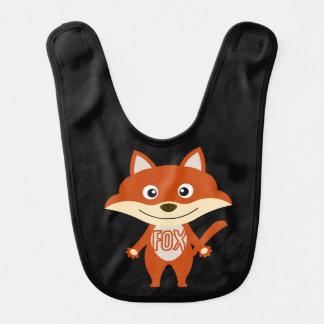 Bavoir de Fox rouge