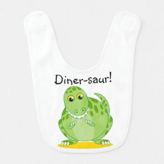 Bavoir Dinosaure vert mignon de Rex de T-Rex ou de