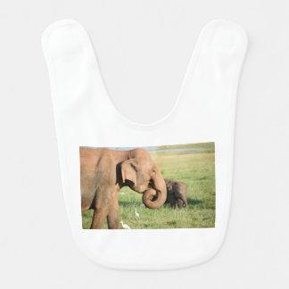 Bavoir Éléphant de mère et de bébé