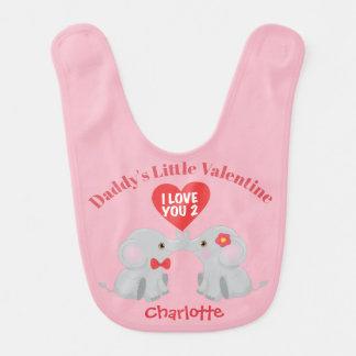 Bavoir Éléphants mignons Valentine