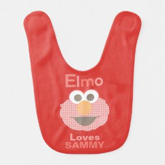 Bavoir Elmo vous aime que   ajoutent votre nom