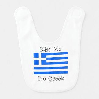 Bavoir Embrassez-moi que je suis grec
